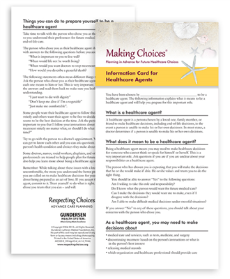 MC 520-E Making Choices® Agent Info Card