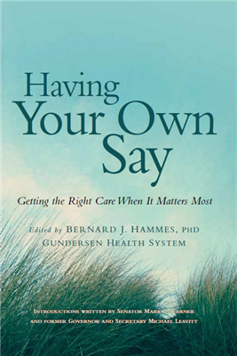 Having Your Own Say Book